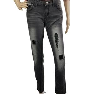Rue21 jeans distressed with sequins stretch Jeans